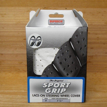スポーツ グリップ ステアリング ホイール カバー ホワイト SS58-0450W