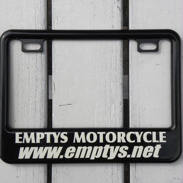 EMPTY'S オリジナル ライセンスフレーム for スモールモーターサイクル ブラック デザイン1