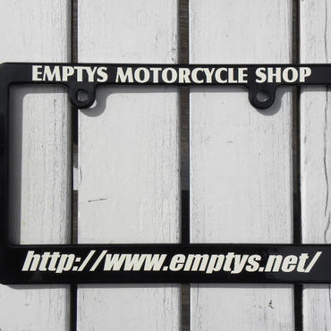 EMPTY'S オリジナル ライセンスフレーム for モーターサイクル ブラック