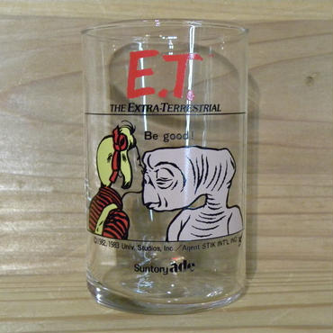 E.T. Suntory ade ノベルティーグラス Be good!