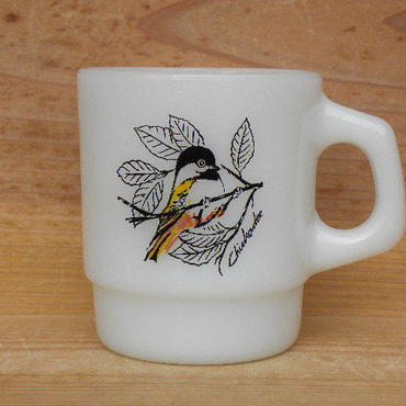 Fire King STACKING MUG Chickadee
