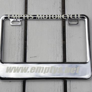EMPTY'S オリジナル ライセンスフレーム for スモールモーターサイクル クローム デザイン2