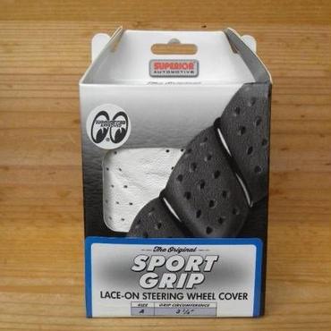 MOONEYES スポーツ グリップ ステアリング ホイール カバー ホワイト SS58-0450WH