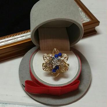 スワロ付き スカシ花フリーリング