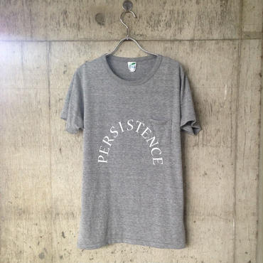 """persistence"" pocket T-shirt gray"