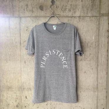 """""""persistence"""" pocket T-shirt gray"""