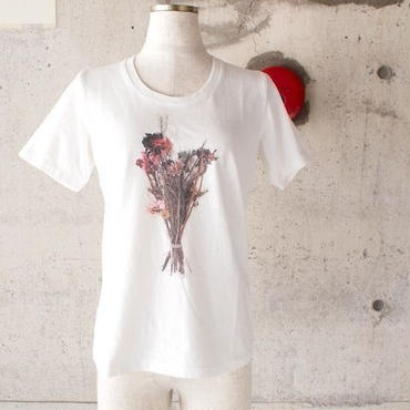 【SALE】【women】BLURHMS〈ブラームス〉 Blossom TeeブロッサムTシャツ Off White