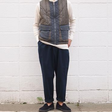 Manual Alphabet〈マニュアルアルファベット〉TWILL THAI PANTS NAVY