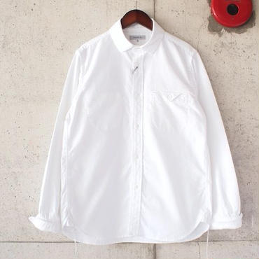 【women】Ordinary fits〈オーディナリーフィッツ〉 INVISIBLE B/D SHIRT (OM-S001) WHITE