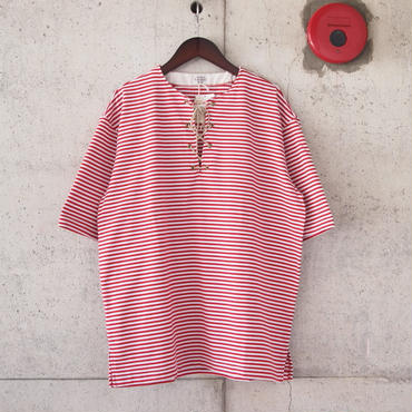 TOWNCRAFT〈タウンクラフト〉 BORDER RACE UP TEE RED