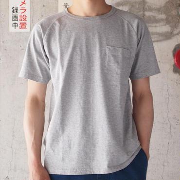 FOB FACTORY〈エフオービーファクトリー〉 FREEDOM SLEEVE TUBE POCKET T-shirt (F7095) GREY