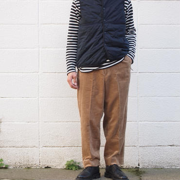 TOWNCRAFT〈タウンクラフト〉 CORDUROUY WIDE TROUSERS BEIGE