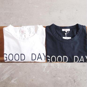SEIRYU & Co.〈セイリューアンドコー〉 GOOD DAY T-SHIRT WHITE/NAVY