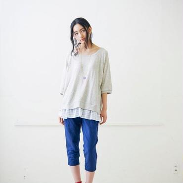 "【SALE】Kelenケレン [LKL13SBL9]Hem Layered Tunic ""Loise""レイヤードチュニック カラー:Ecru"