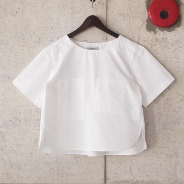 【women】Ordinary fits〈オーディナリーフィッツ〉 COMPACT SHIRT  OFF WHITE/INDIGO
