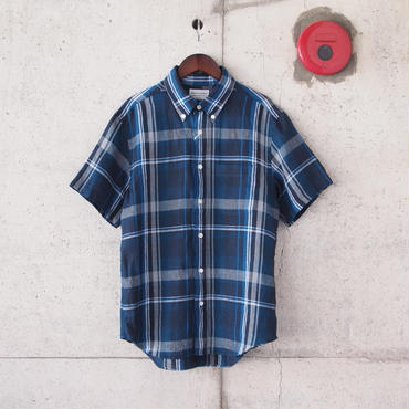 Manual Alphabet〈マニュアルアルファベット〉FRENCH LINEN S/S BD SHIRT NAVY