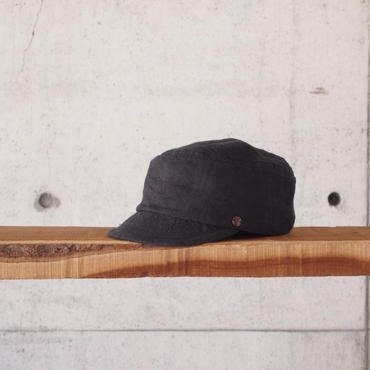 morno〈モーノ〉 LINEN WORK CAP BLACK