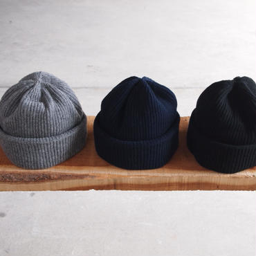 morno〈モーノ〉 COOMARAM KNIT CAP GRAY/NAVY/BLACK