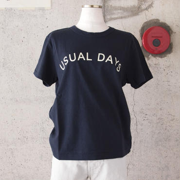 【women】SEIRYU & Co.〈セイリューアンドコー〉 USUAL DAYS T-SHIRT NAVY
