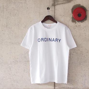 SEIRYU & Co.〈セイリューアンドコー〉 ORDINARY T-SHIRT WHITE
