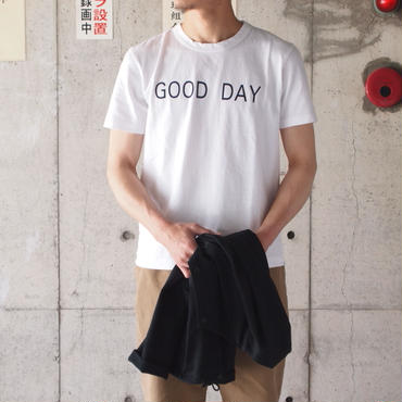 SEIRYU & Co.〈セイリューアンドコー〉 GOOD DAY T-SHIRT WHITE