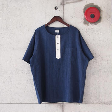 SUNNY SPORTS 〈サニースポーツ〉 3B HENLEY NECK SHIRT NAVY