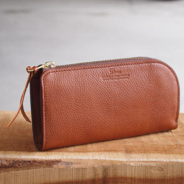 Dono〈ドーノ〉 LONG L-ZIP WALLET  BROWN/BLACK