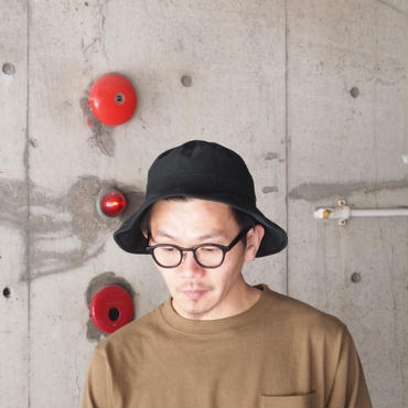 morno〈モーノ〉 ORGANIC COTTON HAT NAVY/ BLACK
