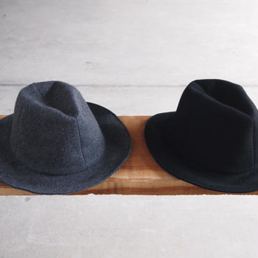 morno〈モーノ〉 MELTON SOFT MANNISH HAT CHARCOAL/BLACK