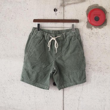 【unisex】Manual Alphabet〈マニュアルアルファベット〉 VINTAGE CORDUROY SHORTS  AM.GREEN