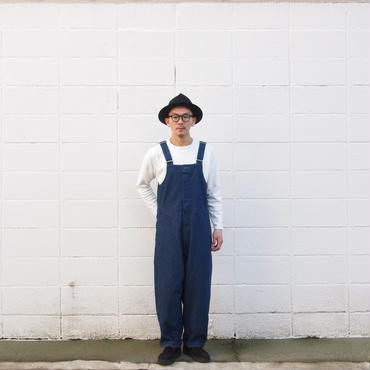 【unisex】Ordinary fits〈オーディナリーフィッツ〉 DUKE OVERALL one wash INDIGO