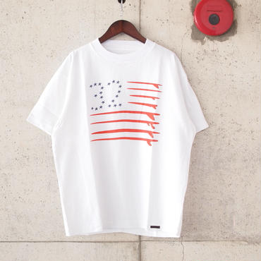 SUNNY SPORTS〈サニースポーツ〉 FLAG TEE (sn16s039) WHITE
