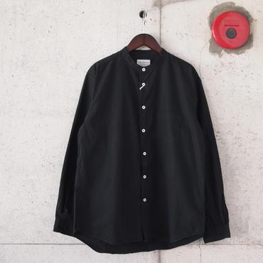 Manual Alphabet〈マニュアルアルファベット〉 LOOSE FIT バンドカラーシャツ BLACK