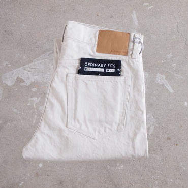 【unisex】Ordinary fits〈オーディナリーフィッツ〉 5POCKET ANKLE DENIM white (OM-P021) WHITE