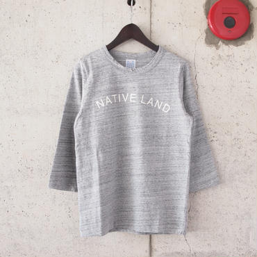 【women】a piece of Library〈ピースオブライブラリー〉 NATIVE 7分袖 Tee (No.216302) GREY