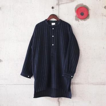 【unisex】5W〈ゴワット〉  Longrand shirts - Shaggy NAVY