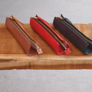 ART BROWN〈アートブラウン〉 ロロマレザー PEN CASE BROWN/RED/NAVY