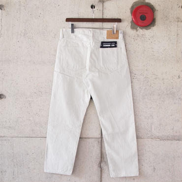 【unisex】Ordinary fits〈オーディナリーフィッツ〉 5POCKET ANKLE DENIM WHITE
