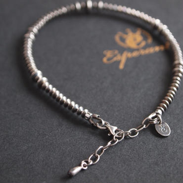 Esperanto〈エスペラント〉  SILVER BEADS ANKLET (EM-654A)  SILVER