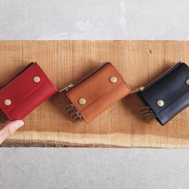 Dono〈ドーノ〉 KEY CASE・小銭入れ RED/BROWN/BLACK/YELLOW