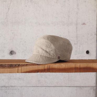 morno〈モーノ〉 LINEN WORK CAP BEIGE