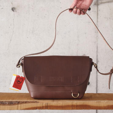 Butler Verner Sails〈バトラーバーナーセイルズ〉 FLAP SHOULDER BAG BROWN