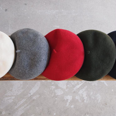 【unisex】ODDS〈オッズ〉 BASQUE BERET WHITE/GREY/RED/OLIVE/NAVY/BLACK