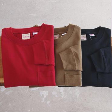Goodwear〈グッドウェア〉 U.S.A. COTTON ロングスリーブTシャツ  BURGUNDY/KHAKI/BLACK