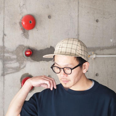 morno〈モーノ〉CHECK B.B. CAP BEIGE/GREEN