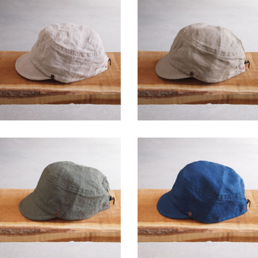 morno〈モーノ〉 LINEN WORK CAP NATURAL/BEIGE/KHAKI/NAVY