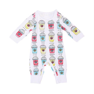 coffee printed romper(80.90cm)