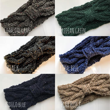 【KIDS】2WAY TWEED KNIT TURBAN