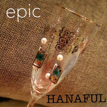 epic×HANAFULパールスタッズピアス