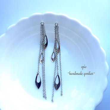 silver chain long  earrings